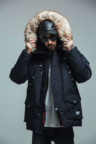 【特価】SAINT PAIN  EMBRACE DUCKDOWN N3B PARKA-BLACK