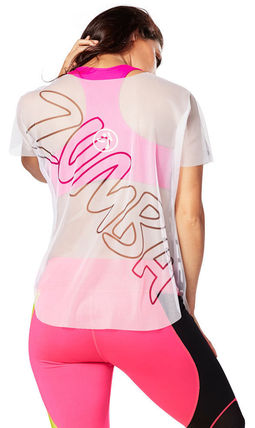 Zumba Zumba Let It Move You Mesh Tee - Wear It Out White