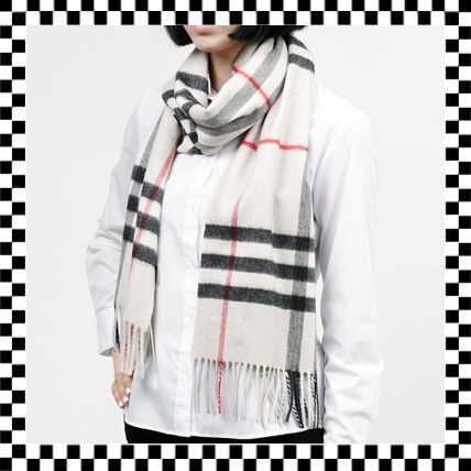 【SALE】BURBERRY【NEW★2017AW GIANT CHECK カシミア★】