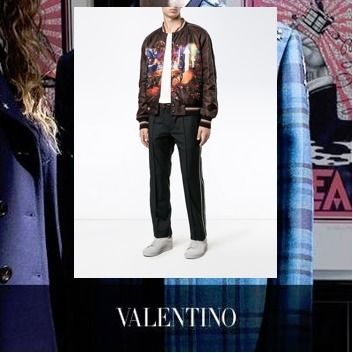 17AW VALENTINO バレンチノ jogging a ourlet a revers
