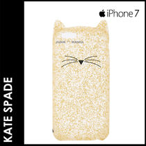 ★3-7日着/追跡&関税込【即発・KATE SPADE】iPhone7 Glitter Cat