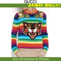 2017AW,関税込★GUCCI(グッチ) TIGER AND FLOWER ウールセーター