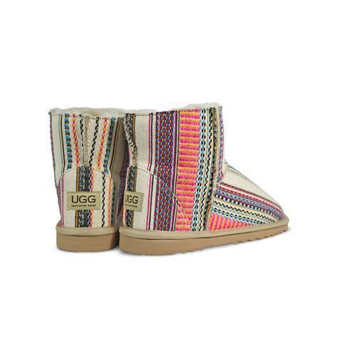 追跡発送☆ UGG ☆アグーブーツ AZTEC EARTH MINI 100% AUS製