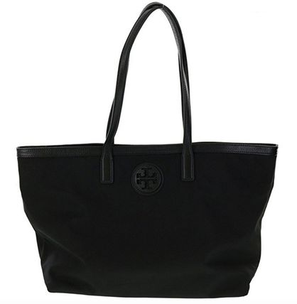 Tory Burch DESCRIPTION NYLON E/W TOTE Black ☆即発送可能☆