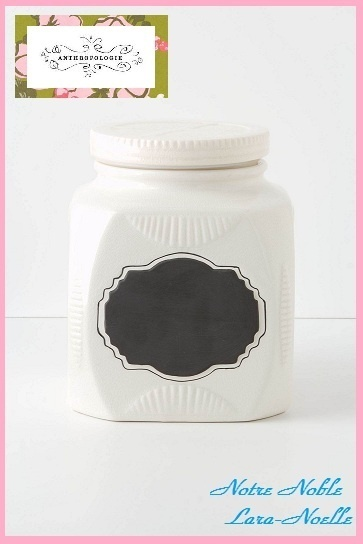 SALE☆レア★ラス1即納【Anthro】Chalkboard Storage Jar 3点set