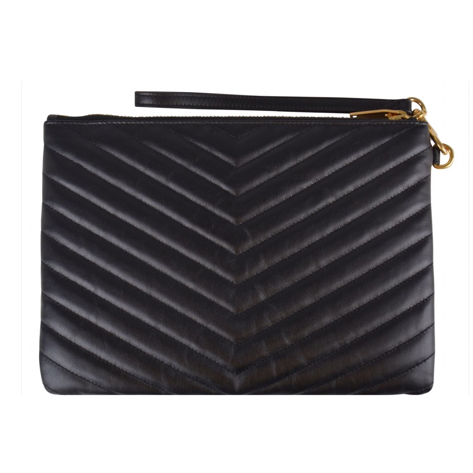 SAINT LAURENT MONOGRAMME QUILTED CLUTCH BAG 関税送料込