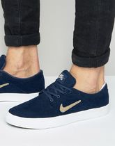 Nike SB Portmore Canvas Premium Trainers In Navy 807399-420