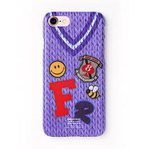 POP★FRFR KNIT BLUE ケース iphone galaxy対応