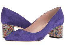 Kate Spade New York ★パンプス★Ink Blue Suede×Multicolor