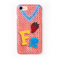 POP★FRFR KNIT PINK ケース iphone galaxy対応