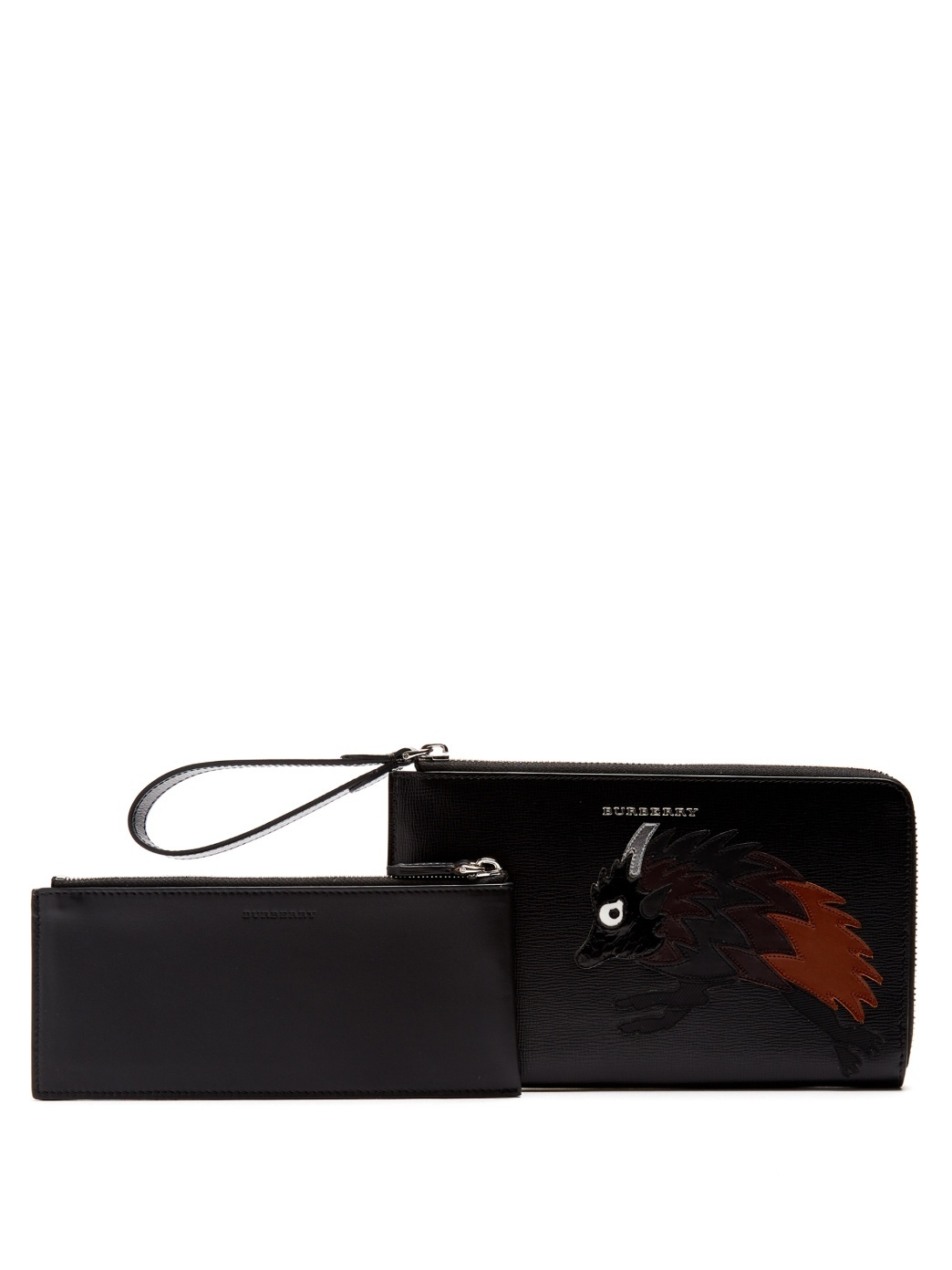 【VIPセール】Burberry★Beasts-applique leather wallet 財布