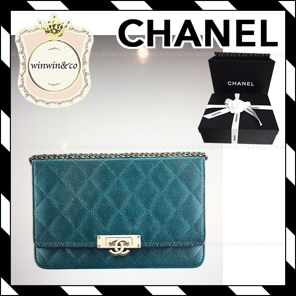 17AW【国内直営店★CHANEL】キャビア チェーンウォレット 6色