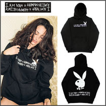 I AM NOT A HUMAN BEING(ヒューマンビーイング) パーカー・フーディ 【I AM NOT A HUMAN BEING】PLAYBOY Rabbitロゴ パーカー/追跡付