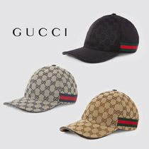 ∴Gucci∴ GG canvas baseball hat with web 3色