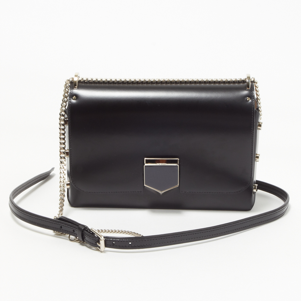 JIMMY CHOO  LOCKETT CITY ショルダーバッグ  BLACK