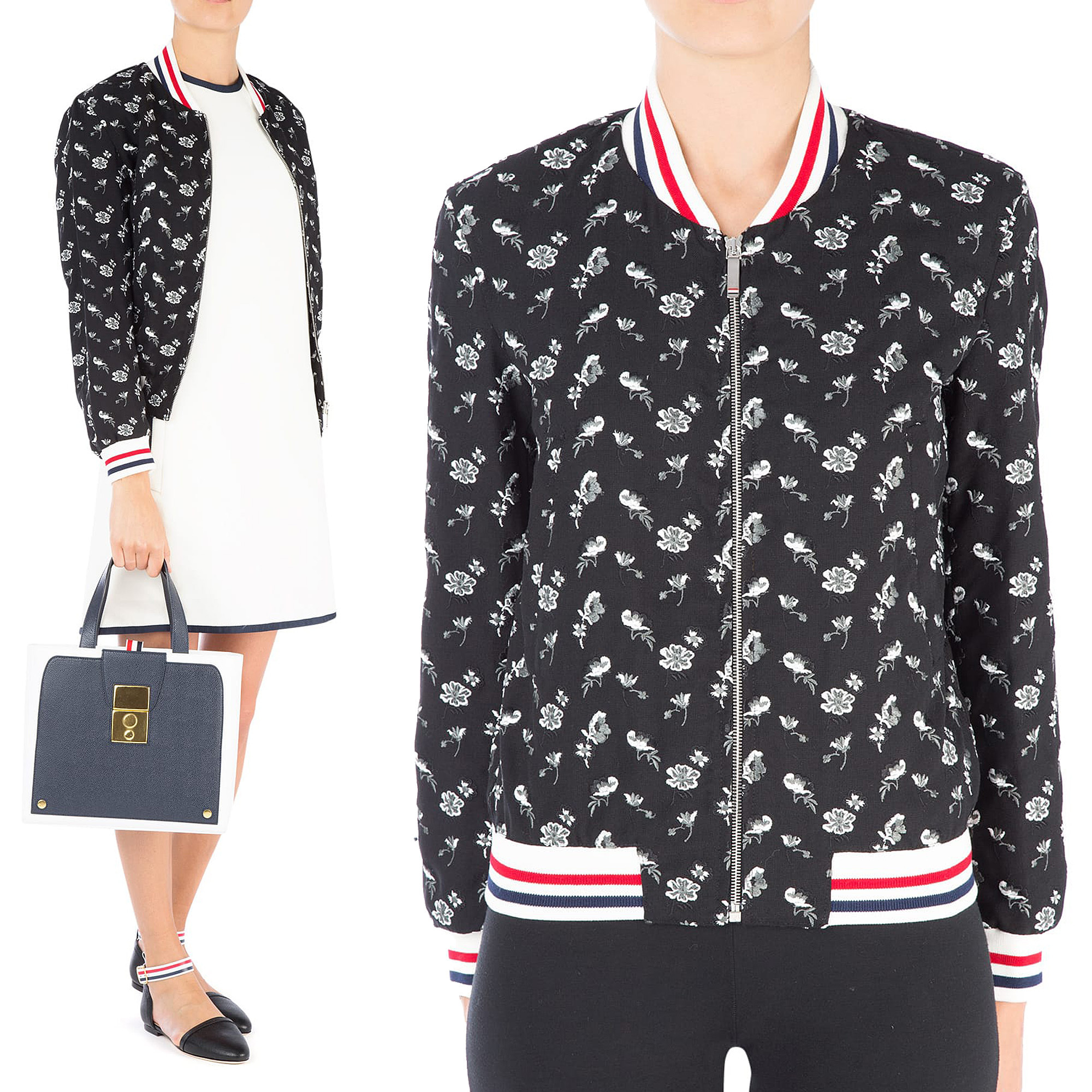 Embroidered wool bomber jacket  FBC298A01622
