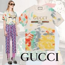 GUCCI Cotton T-shirt With Gucci Logo Multicolor