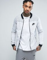 Nike AV15 Jersey Bomber Jacket In White 837008-100