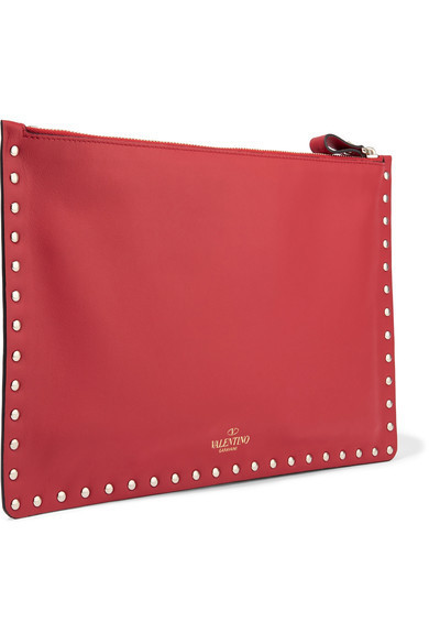 ★関税負担★VALENTINO★ROCKSTUD LEATHER POUCH