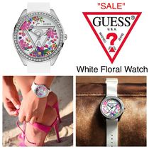 GUESS ☆限定セール☆人気White Floral Iconic 腕時計