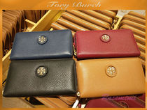 新作ロゴ付長財布TORY BURCH☆WHIPSTITCH ZIP CONTINENTAL☆3色