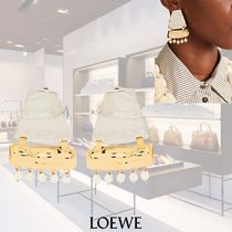 【17AW】LOEWE/Faux-pearl 装飾ピアス Silver