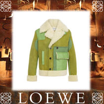17AW新作★LOEWEロエベ★Db Shearling Jacket Avocado