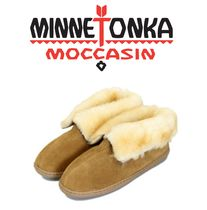 ★MINNETONKA★もこもこ Sheepskin Ankle Boots / Golden tan