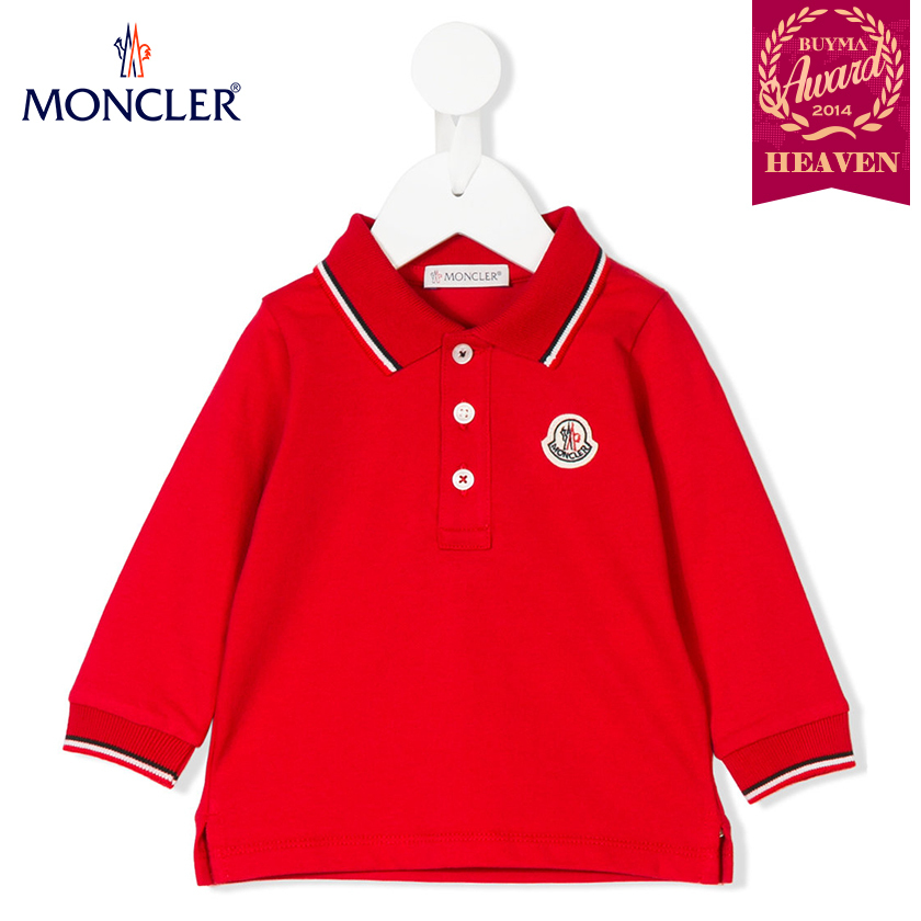 TOPセラー賞受賞!17AW┃MONCLER★0-36か月_POLO SHIRT_レッド