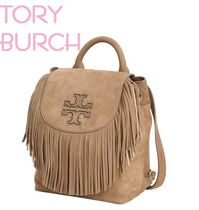 Tory Burch♡MINI FRINGE NUBUKレザーバックパック