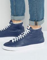 Nike Blazer Mid Trainers In Blue 429988-402