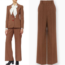 17-18AW C226 MICRO CHECK WIDE LEG TROUSERS