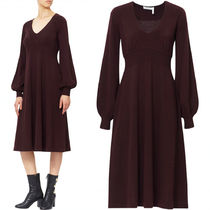 17-18AW C227 WOOL FLARE DRESS WITH BISHOP SLEEVE