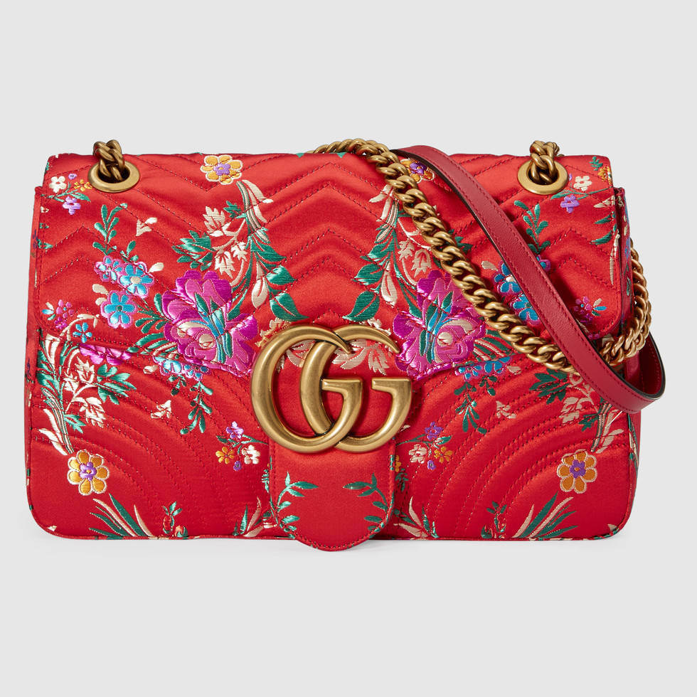 【17aw NEW】GUCCI_women/GG Marmont floral jacquard/花バッグ