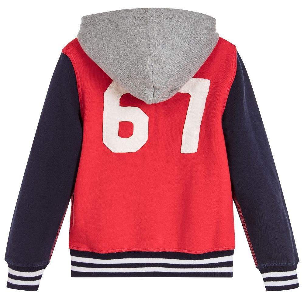 Ralph Lauren/Boys Red & Blue Zip-up top
