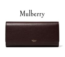 ★関税負担★MULBERRY★TEXTURED-LEATHER CONTINENTAL WALLET