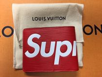 入手困難!17Supreme x Louis Vuitton Slender Wallet財布赤