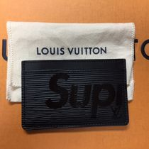 入手困難!17Supreme x Louis Vuitton Epi Card Holder黒