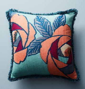 Anthropologie-日本初-☆Sunworth Silk Pillowクッション☆