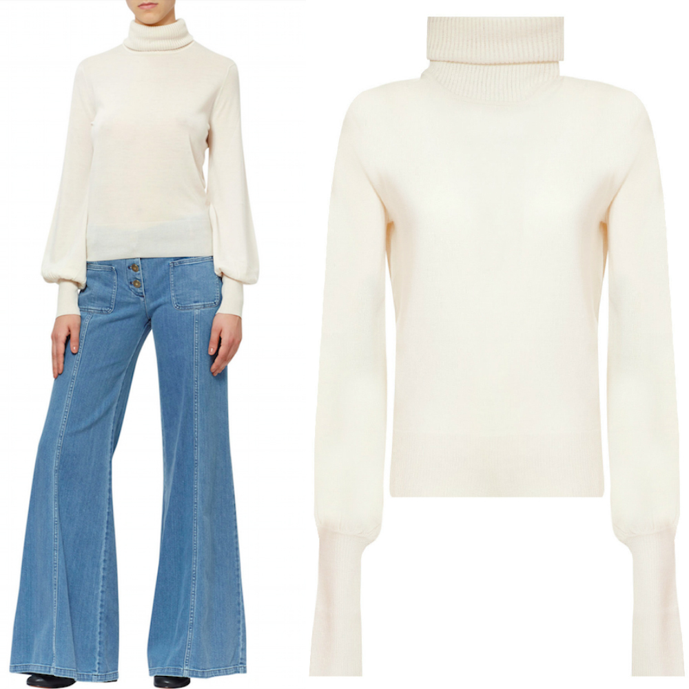 17-18AW C247 TURTLENECK SWEATER WITH BISHOP SLEEVE