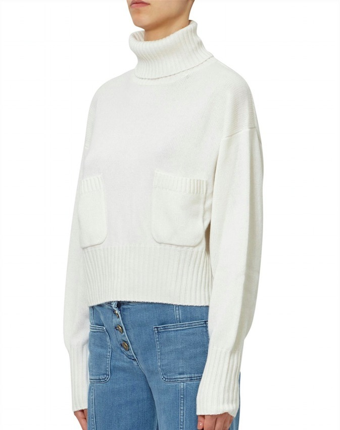 17-18AW C251 TURTLENECK CASHMERE SWEATER WITH FRONT POCKET