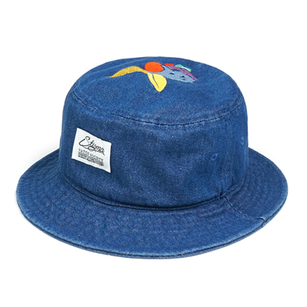 日本未入庫★STIGMA★RABBIT WASHED DENIM BUCKET HAT BLUE
