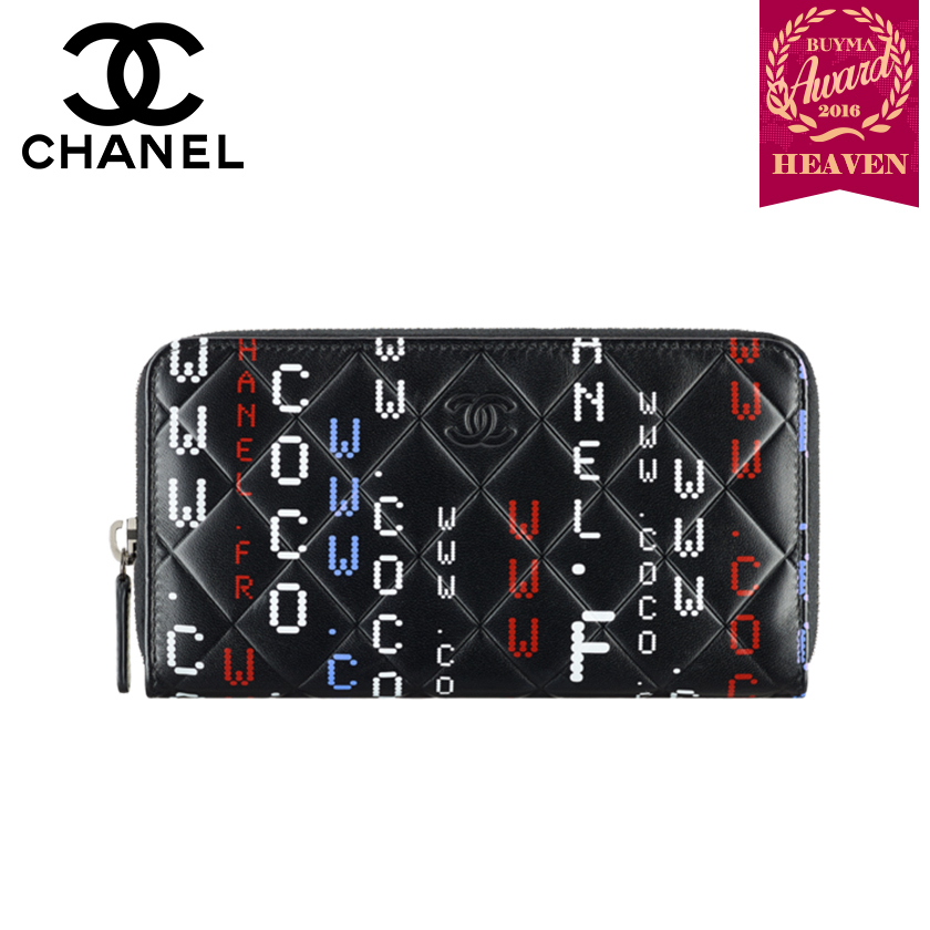TOPセラー賞受賞!17秋冬★CHANEL┃ZIP WALLET_BLACK