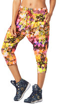ZUMBA(ズンバ) フィットネスボトムス 新作♪ZUMBAズンバRock Out Cropped Harem Dance Pants-S Pink