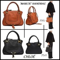 【関税送料込】人気の2color◆Chloe◆'MARCIE' HANDBAG◆BK&BR