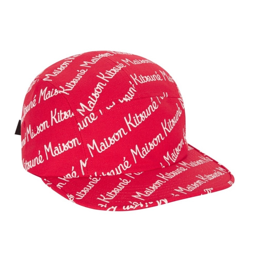 ★MAISON KITSUNE《メゾンキツネ》ALL OVER LOGO 5P CAP★