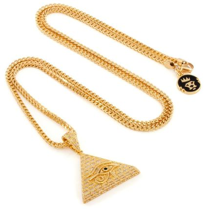King Ice ネックレス・チョーカー 日本未入荷☆KING ICE☆14K Gold CZ All Seeing Eye Necklace(4)