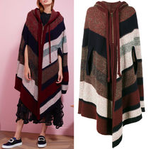 17-18AW C261 CASHMERE BLEND WOOL HOODED PONCHO