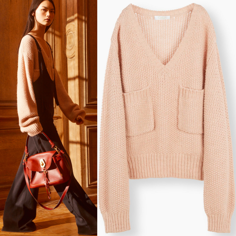 17-18AW C263 LOOK16 V-NECK CHUNKY KNIT SWEATER