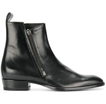 【関税負担】 SAINT LAURENT LEATHER ANKLE BOOTS
